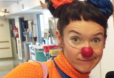 Portrait docteur clown popcorn